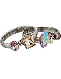 Mirage Double up Stackable Ring, Size 7-9
