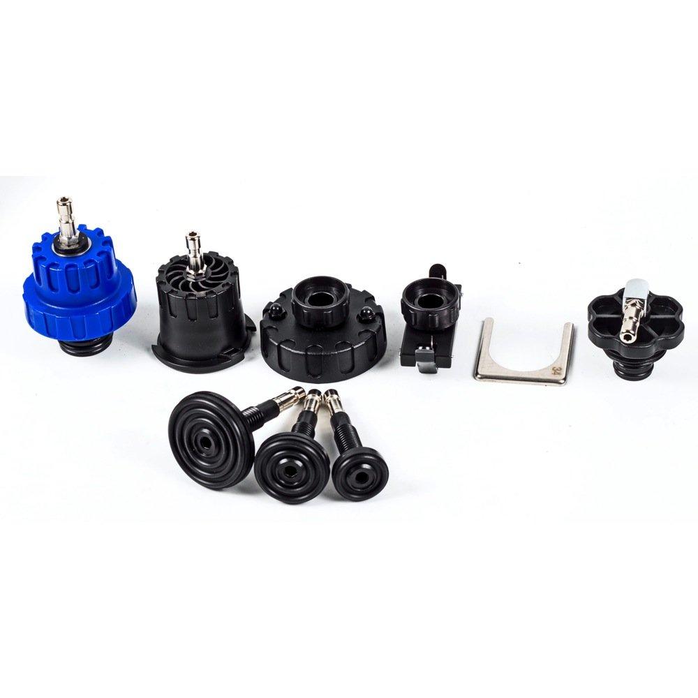 Powerbuilt 647893 8 Pc Radiator Pressure Cooling Tester Adapter Kit