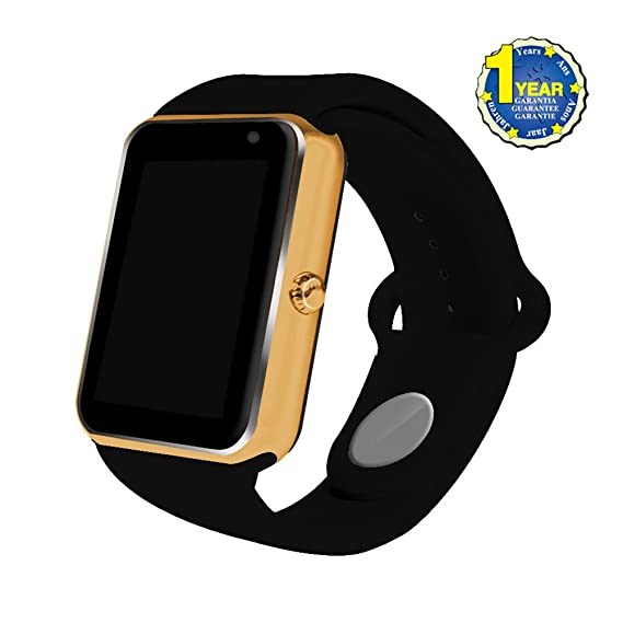 2017 Newest AIYIBEN Bluetooth Smart Watch with SIM Card Slot Smart Health Watch Independent Smart phone for Android IOS Smart watch. (Gold+Black)
