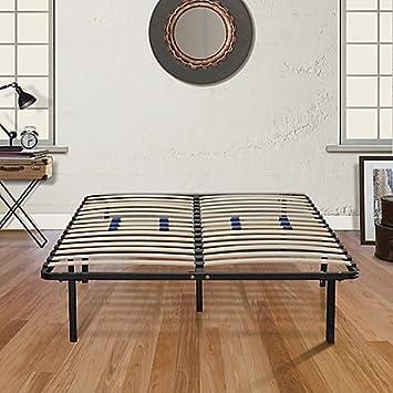 Amazon.com: E-Rest King Wood & Metal Platform Bed Frame: Kitchen ...