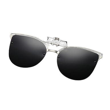 376237deadb Zhuhaixmy Men Women Metal Cat Eye Sunglasses Flip Up Myopia Night Vision Glasses  Clip-On Mirror Polarizing UV400 Protection Anti-headlights  Amazon.co.uk   ...