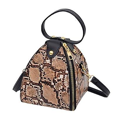 OTTATAT Fashion Women' s Leopard Print Large Capacity PU Leather Shoulder Bag Messenger Bag Crossbody Phone Bag Handbag