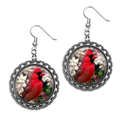 Cardinal Bottlecap Earrings
