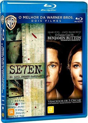 Blu-ray 7 Seven + O Curioso Caso de Benjamin Button [ 2-Disc Set ] [ 7 Seven + The Curious Case of Benjamin Button ] [ Audio and Subtitles in English + Spanish + Portuguese ]