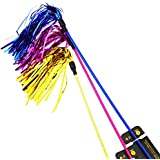 Aduck Cat Toys Interactive Teaser Wand Toy with Tassels Worms Catcher for Cats Kitten, Random Color (1pc)