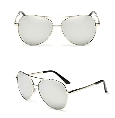 a7142d2fa Image Unavailable. Image not available for. Colour: Silver Aviator Women  Ladies Sunglasses Mirrored Cat Eye Reflective Retro UK