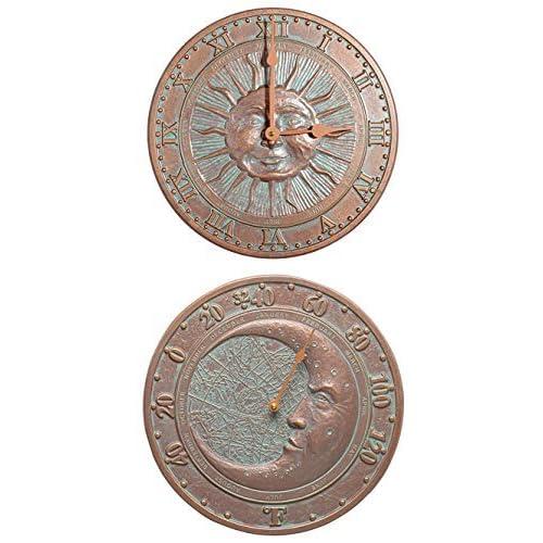 Whitehall Celestial Clock & Thermometer Kit, Copper Verdi