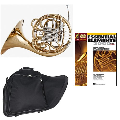 Band Directors Choice Double French Horn Key of F/Bb Essential Elements for French Horn Pack; Includes Intermediate French Horn, Case, Accessories & Essential Elements for French Horn Book by Double French Horn Packs