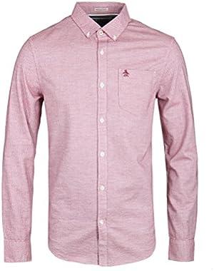 Plain Herringbone Long Sleeve Shirt - Smart / Casual Shirts