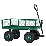 ArmPro Steel Garden Cart with Removable Sides, Heavy Duty 650 Lbs Collapsible Utility Wagon