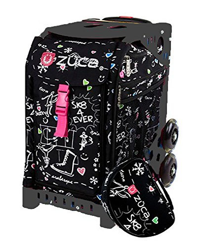 Edition Insert (ZUCA Bag Black Sk8 Limited Edition Insert & Black Frame w/ Flashing Wheels)