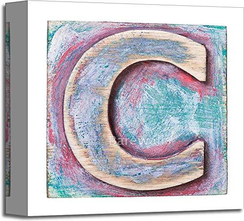 木製アルファベットギャラリーWrappedキャンバスアート 12in. x 12in. B073WMMM5M  12in. x 12in.