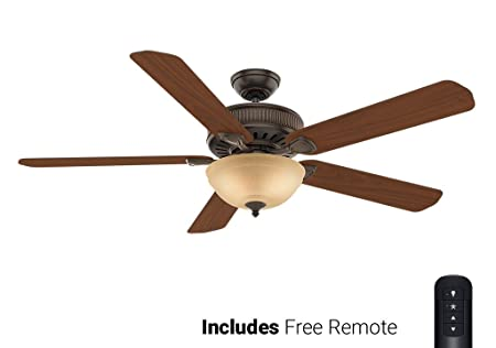 Casablanca Ceiling Fan 55006, Ainsworth Gallery Onyx 60 with Light Remote Included