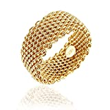 Sephla Unique Wedding Brands Weave Mesh Ring (8)