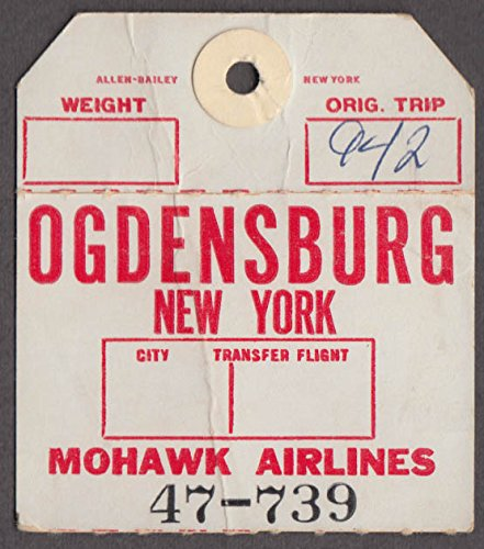 Mohawk Airlines airline baggage check Ogdensburg NY OGS - Mohawk Airlines