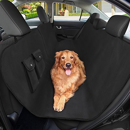 Dog Seat Covers, SHINE HAI Pet Car Seat Cover, Waterproof & Scratch Proof Hammock Convertible, Backseat Cover for Cars Trucks and SUVs