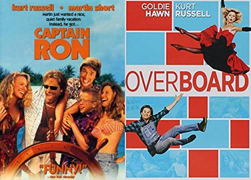 Kurt Russell & Goldie Hawn 2-DVD Comedy Bundle Over Board & Captain Ron
