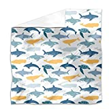 Sea Animals Flat Sheet: King Luxury Microfiber, Soft, Breathable