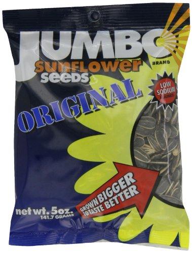 JUMBO SUNFLOWER SEEDS Sunflower Seeds, 5-Ounce (Pack of 12)