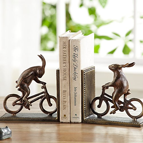Anecdotal Aardvark Bunnies On Bikes Bookends