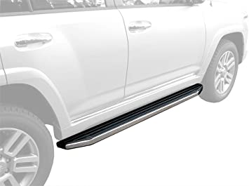 MaxMate Custom Fit 2010-2017 Toyota 4Runner ; 2010-2013 4Runner SR5 Stainless Steel 3 Side Step Rails Nerf Bars Running Boards 2pcs with Mounting Bracket Kit Excl. Trail Edition /& 14-17 SR5