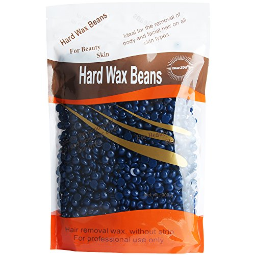 Bluezoo Chamomile Depilatory Pearl Hard Wax Beans / Brazilian Granules Hot Film Wax Bead For Hair Removal(stripless) (Blue Zoo)