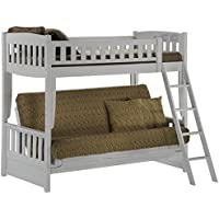 Night & Day Furniture Cinnamon Futon Bunk, White Finish