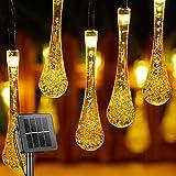 Solar String Lights Outdoor Waterproof Waterdrop