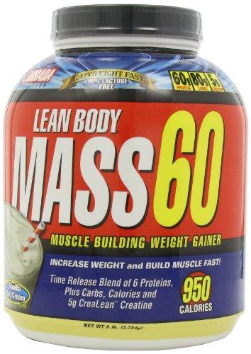 Labrada Nutrition Lean Body Mass 60 Muscle Builder Protéines en poudre, glace à la vanille, 6-livres à remous