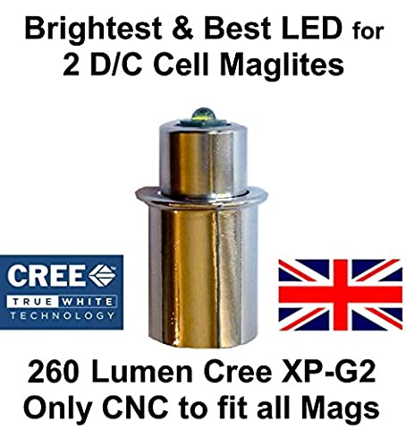 Maglite LED Conversion Upgrade Cree XP-G2 Bulb 2 D or C Cell Flashlights