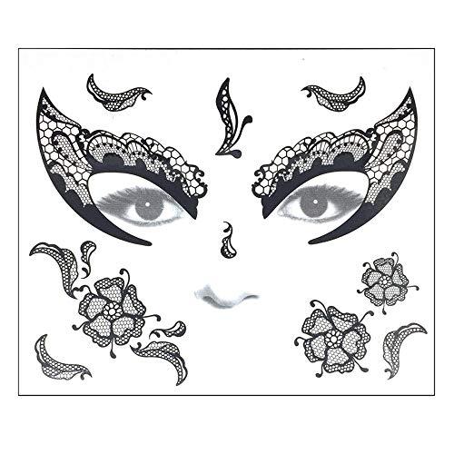 Willsa Halloween Temporary Face Art Waterproof Mask Sugar Skull Tattoo Beauty Sticker