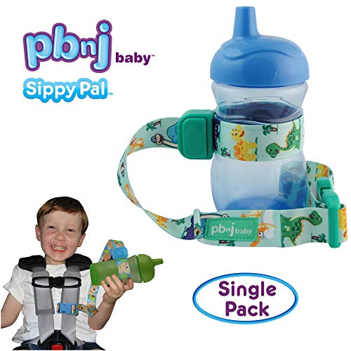 PBnJ Baby SippyPal Sippy Cup Strap Holder Leash Tether (1 Dinosaur)