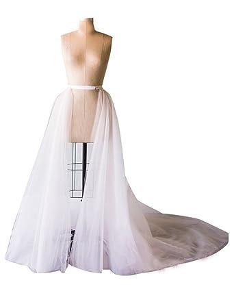 2f97388db0 BetaaBetaa Ivory Detachable Wedding Tutu Train Skirt 3 Layer Removable  Bridal Trian XS
