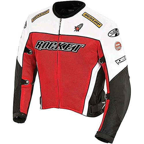 Joe Rocket Men's UFO 2.0 Mesh Motorcycle Jacket (Red, X-Large)