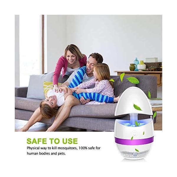 SUNNEST - Zapper zanzare UV Insetti, Portatile, per Camera da Letto, Cucina, Ufficio, casa, Uso Interno (Bianco) 2 spesavip