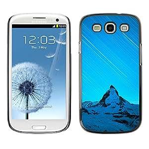 Nevados Hills - Metal de aluminio y de plástico duro Caja del teléfono - Negro - Samsung Galaxy S3