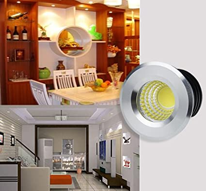 3W LED Deckenstrahler Schwenkbar COB Deckenspots Einbauleuchte Aluminium Spots LED Set Kaltweiss f/ür Weinschrank//Schrank//K/üche//Wohnzimmer-Rosegold WZOED Kleine Einbaustrahler Mini LED Set 5er