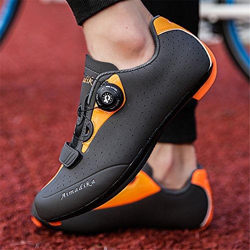 Der Rad-Sport-Berg-Sport-Fahrrad-Clipless Trail Shoartain Männer der Straßen-Männer Orange