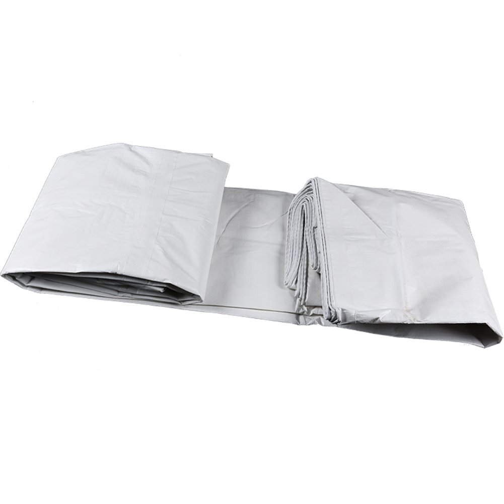 ZEMIN オーニング サンシェード ターポリン 日焼け止め 防水 シート テント ルーフ 防風 防塵の 薄いです ポリエステル、 白、 140G/10サイズあり (色 : 白, サイズ さいず : 10X15M) B07D13P8B5  白 10X15M
