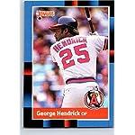 1988 Topps George Hendrick California Angels 304 Anaheim