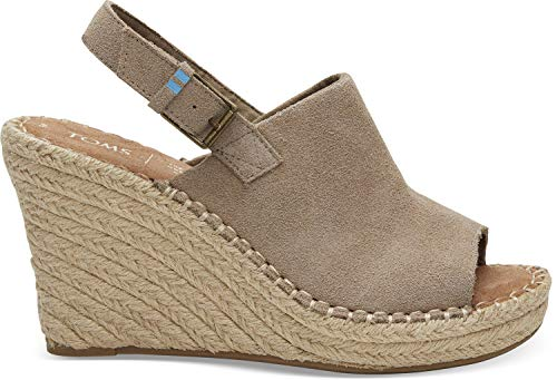 TOMS Women's Monica Suede Wedge Desert Taupe 6