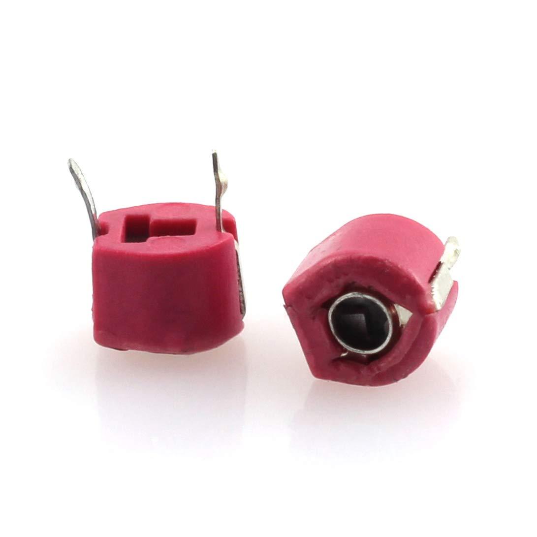 Tegg 18PCS Adjustable Capacitor 5PF 10PF 20PF 30PF 40PF 50PF 60PF 70PF 120PF Trimmer Variable Capacitance Plastic for Arduino