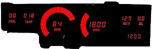 Intellitronix Corp. Cutlass 78-88 LED Digital Gauge Panel (Red)