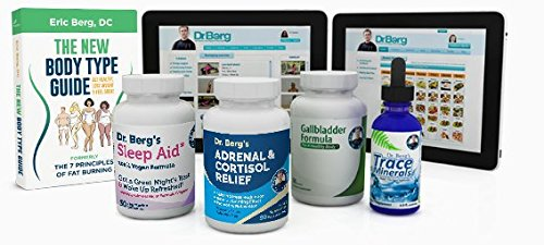 Adrenal Body Type Kit – Complete Program For A Healthy Adrenal Body Type – Fight Fatigue, Belly Fat and Stress By Dr. Berg