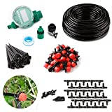 DIY Timer Drip Irrigation System Plant lawn Watering Drip Irrigation Kit 82ft 1/4'' Blank Distribution Tubing Watering Drip Kit for Greenhouse Cooling Suite Plant Watering
