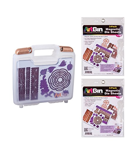 (ArtBin Bundle includes ArtBin Magnetic Die Storage Case, 6978AB with 2 additional Magnetic Die Sheets 3 Pack, 6979AB)