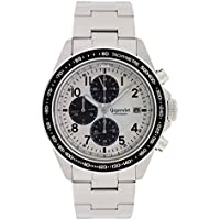 Gigandet Men's Quartz Watch Racetrack Chronograph Analog Stainless Steel White Black G24-002
