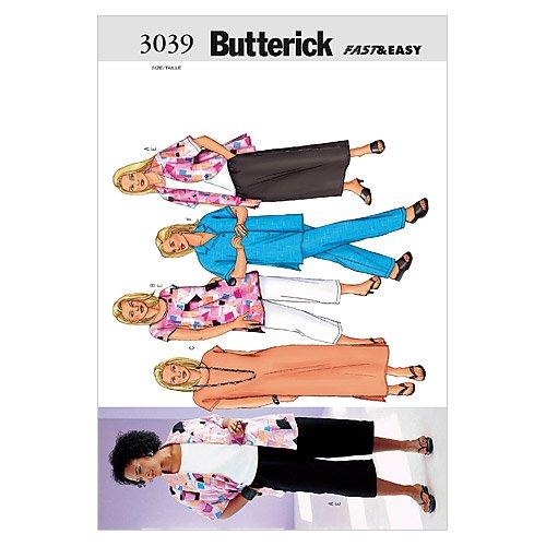 Butterick Patterns B3039 Women's/Women's Petite Shirt, Top, Tunic, Dress, Skirt & Pants, Size 16W-18W-20W