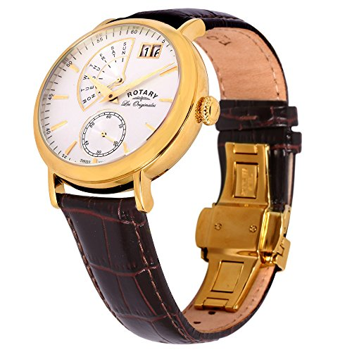 rotary men s quartz watch white dial analogue display and rotary men s quartz watch white dial analogue display and brown leather strap gs90086 06 amazon co uk watches