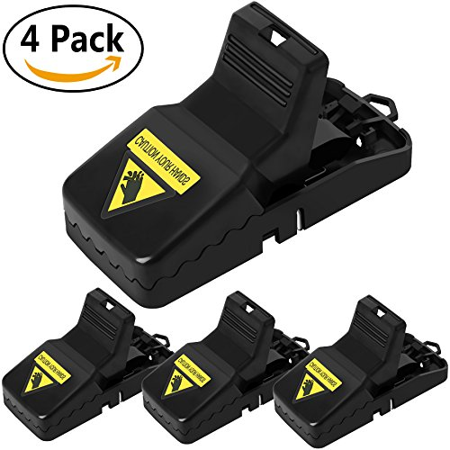 Koeson Mouse Trap, Rat trap snap Humane Power Rodent Killer, Mice trap, Effective Sensitive Reusable and Durable Traps (4 Pack)